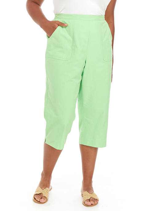 Alfred Dunner Plus Size Cargo Capri Pants
