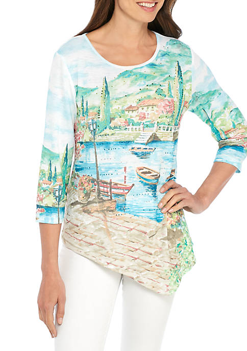 Alfred Dunner Scotts Scenic Knit Top
