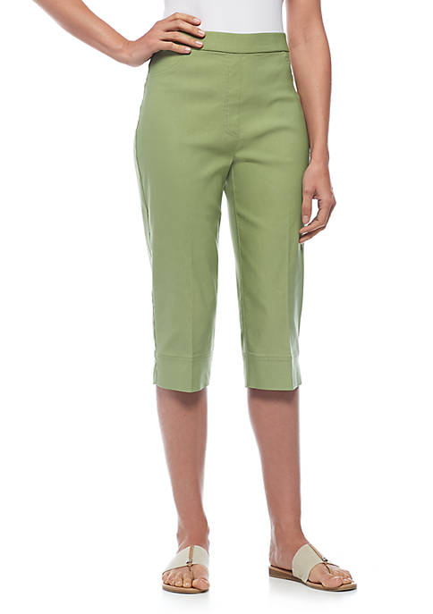 Alfred Dunner Petite Size Allure Clam Digger Capris