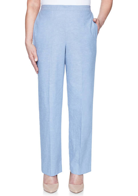 Alfred Dunner Womens Bella Vista Proportioned Medium Pants
