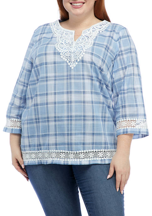 Alfred Dunner Plus Size Bella Vista 3/4 Sleeve