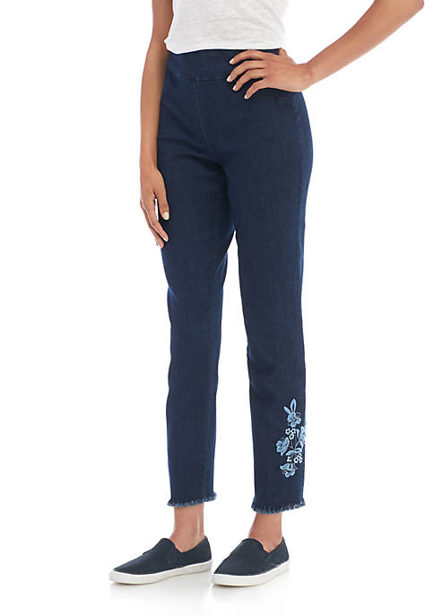 Alfred Dunner Embroidered Ankle Pants