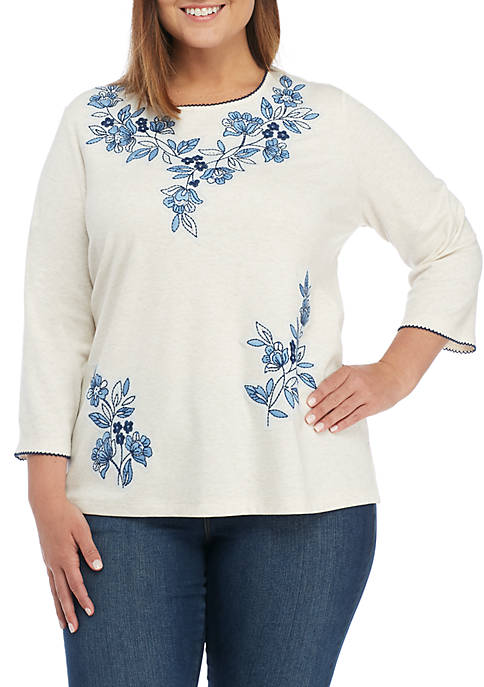 Alfred Dunner Plus Size Out Of The Blue