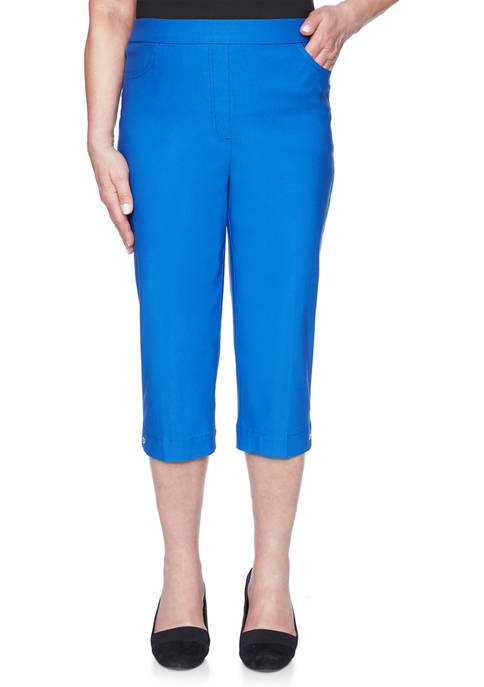 Alfred Dunner Womens Look On The Brightside Capris