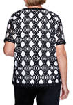 Womens Diamond Lace 2-for-1 Top