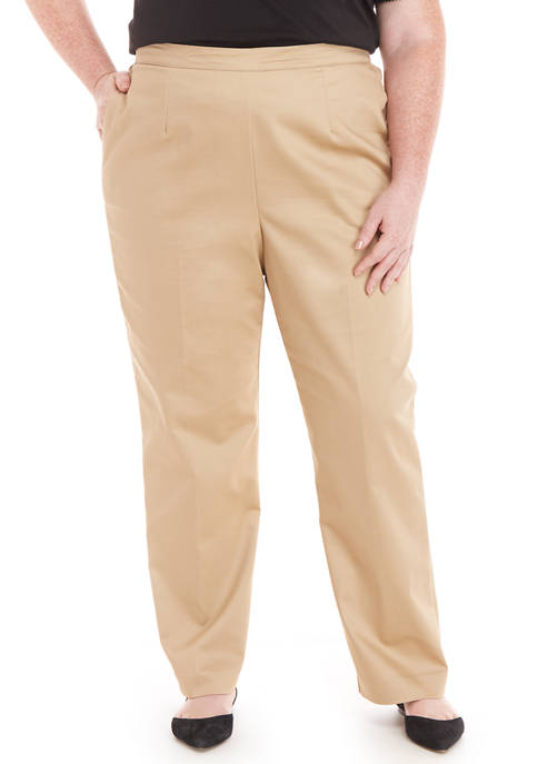 Alfred Dunner Plus Size Proportioned Pants- Short