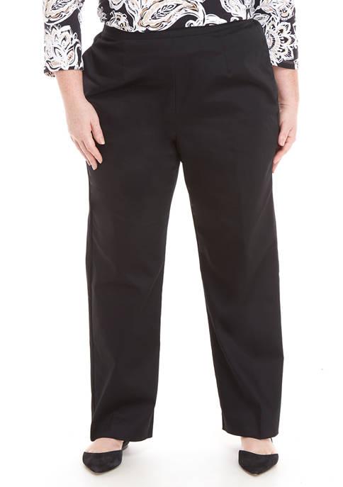 Alfred Dunner Plus Size Zanzibar Proportioned Pants- Average