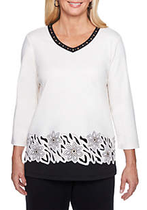 Border Cut-Out Top
