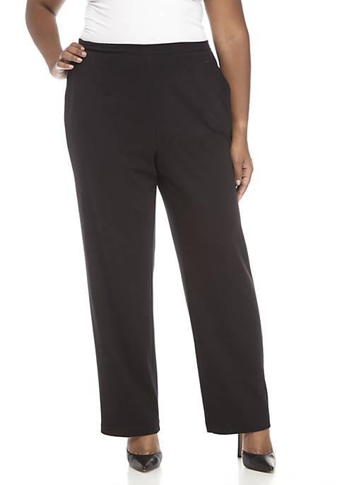 Alfred Dunner Plus Size Proportion Medium Pants