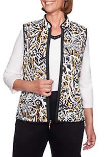 Petite Reversible Floral Vest