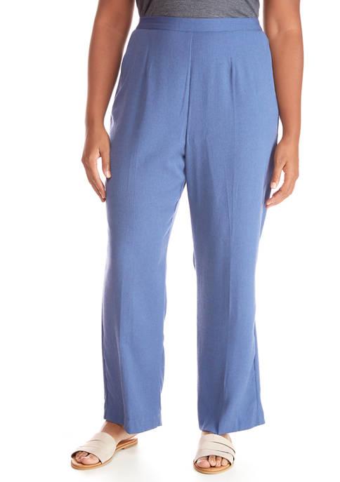 Plus Size Crinkle Proportioned Pants- Short