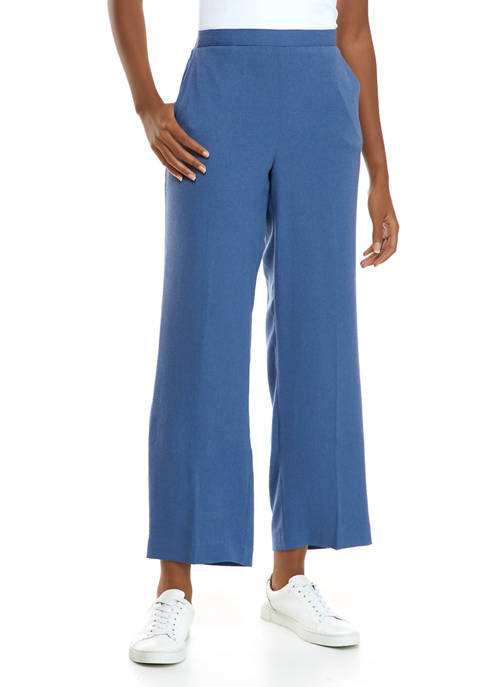 Alfred Dunner Petite Palo Alto Proportioned Pants- Short