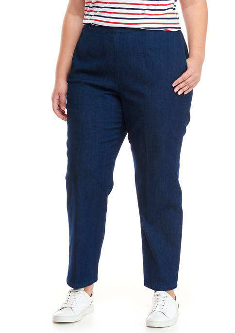 Alfred Dunner Plus Size Panama City Denim Proportioned