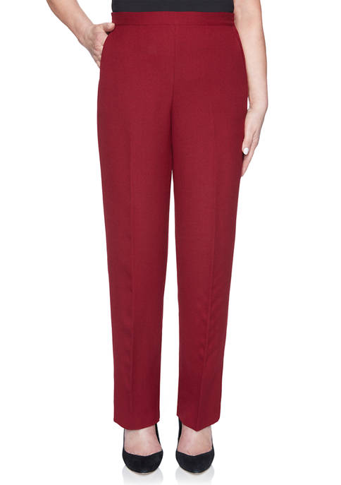 Alfred Dunner Womens Madison Avenue Proportion Medium Pants