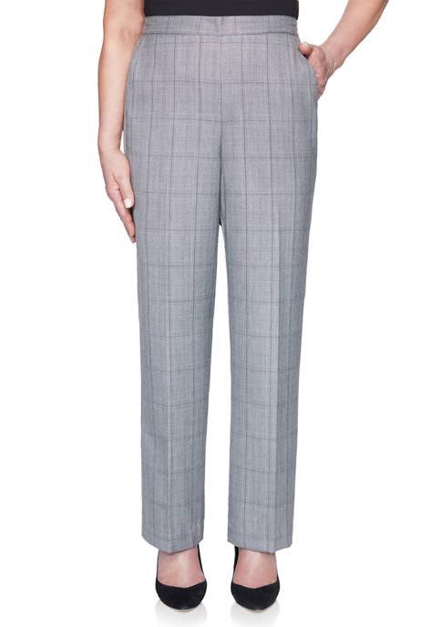 Plus Size Madison Avenue Proportion Medium Pants - Plaid