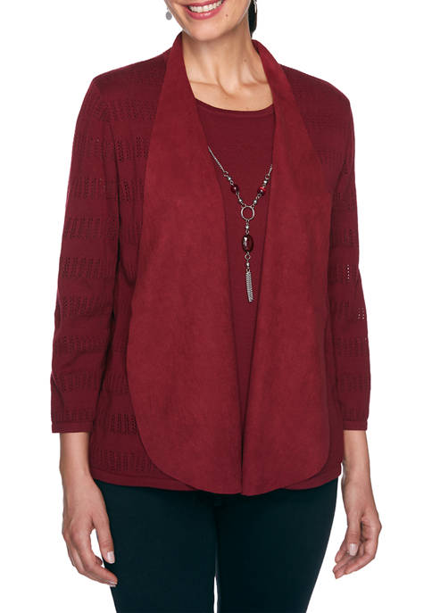 Alfred Dunner Plus Size Madison Avenue 3/4 Sleeve