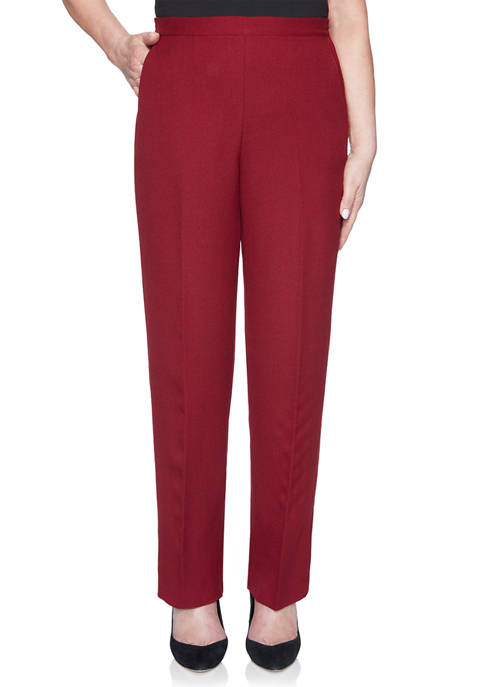 Alfred Dunner Petite Madison Avenue Proportioned Pants- Average