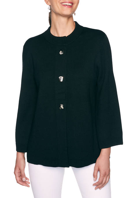 Alfred Dunner Petite Madison Avenue Sweater Jacket