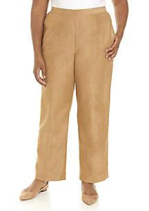 Plus Size News Flash Pants