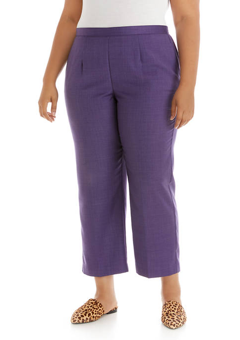 Alfred Dunner Plus Size Wisteria Lane Proportioned Short