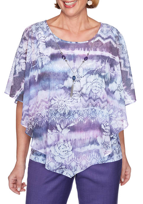 Alfred Dunner Plus Size Wisteria Lane Butterfly Ikat