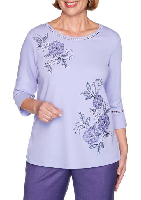 Alfred Dunner Plus Size Wisteria Lane 3/4 Bell