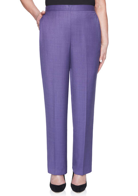 Alfred Dunner Petite Wisteria Lane Proportioned Pants- Average