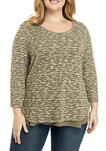 Plus Size Autumn In New York Knit 2Fer