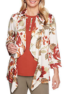 Petite Autumn in New York Floral Jacket
