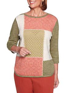Petite Autumn in New York Colorblock Sweater