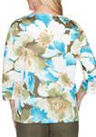 Womens Colorado Springs Exploding Floral Knit Top