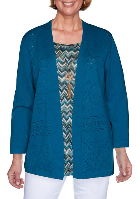 Alfred Dunner Plus Size Colorado Springs 3/4 Sleeve