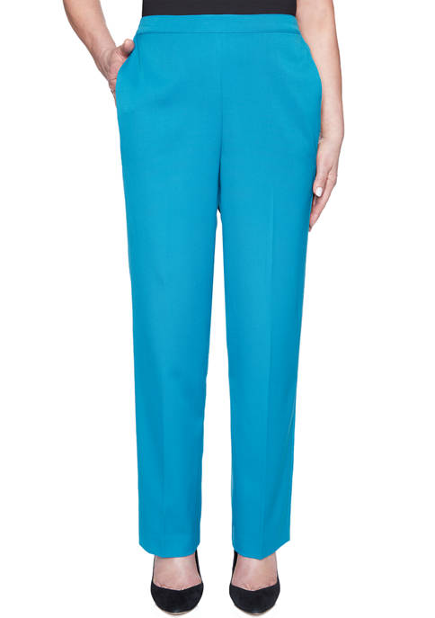 Alfred Dunner Petite Colorado Springs Proportion Pants- Average