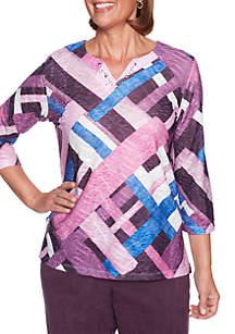 Victoria Falls Patchwork Knit Top