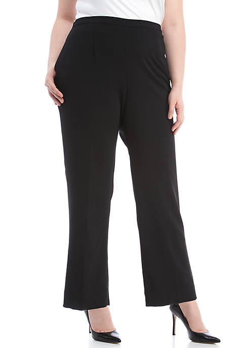 Alfred Dunner Plus Size Regular Fit Proportioned Pants