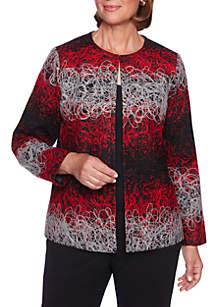 Petite Sutton Place Jacquard Sweater