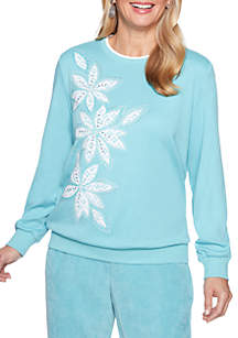 Simply Irresistible Lace Floral Knit Top