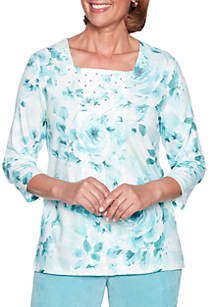 Simply Irresistible Floral Center Lace Sweater