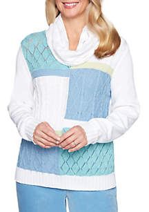 Simply Irresistible Colorblock Sweater With Scarf