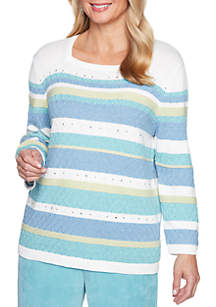 Simply Irresistible Texture Biadere Sweater