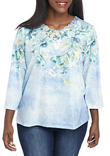 Plus Size Simply Irresistible Floral Lace Top