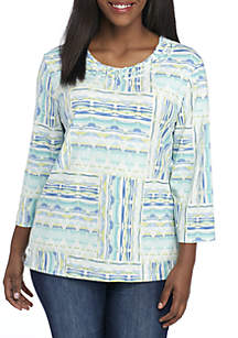 Plus SIze Simply Irresistible Patchwork Knit Top