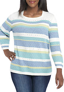 Plus Size Simply Irresistible Texture Biadere Sweater