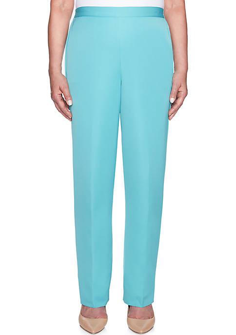 Alfred Dunner Petite Simply Irresistible Microfiber Medium Pants