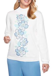Petite Simply Irresistible Applique Center Sweater