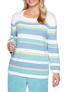Petite Simply Irresistible Texture Biadere Sweater
