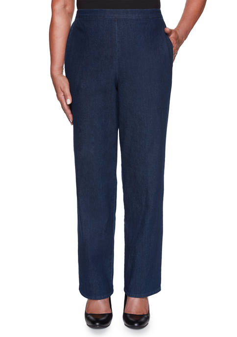 Alfred Dunner Plus Size Hunter Mountain Denim Pants