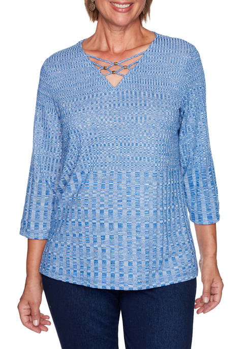 Alfred Dunner Plus Size Hunter Mountain Textured Rib