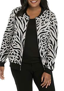 Plus Size Shining Movements Skin Jacket