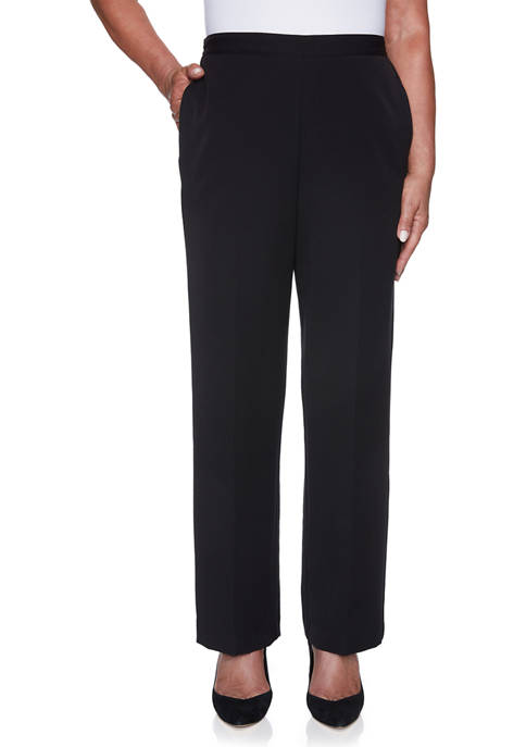 Alfred Dunner Womens Catwalk Twill Pants- Short